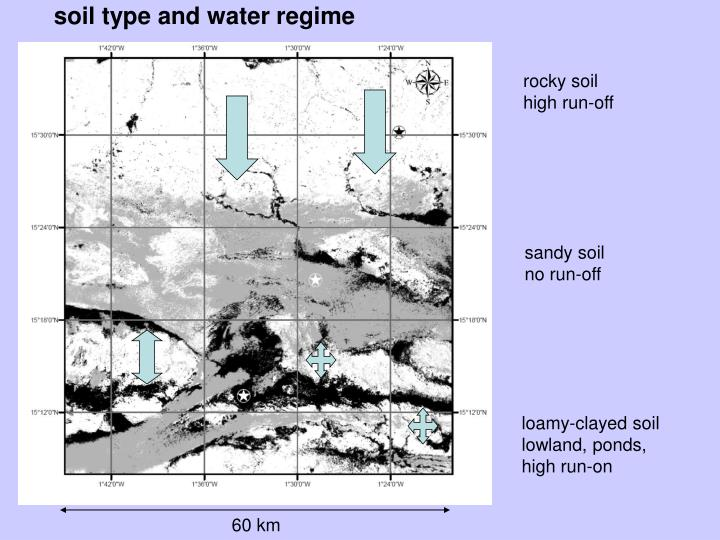soil type and water regime