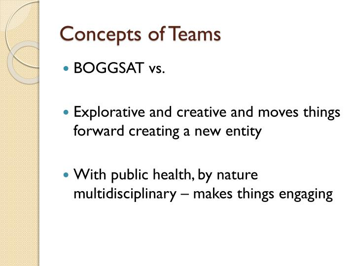 Concepts of Teams