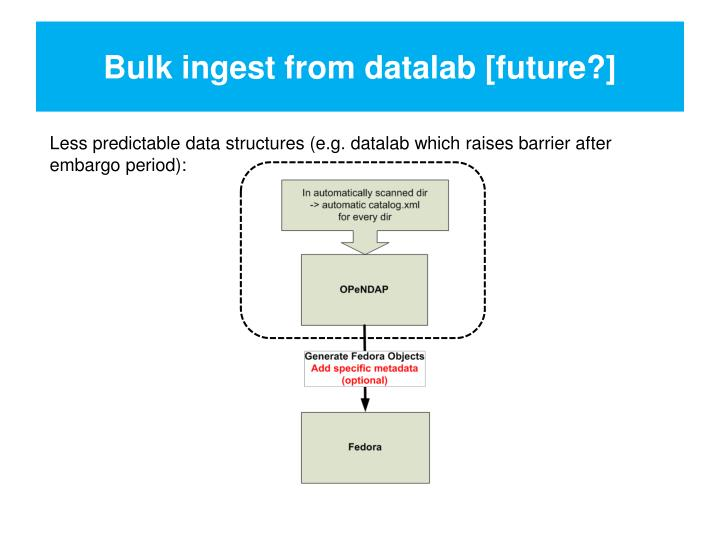 Bulk ingest from datalab [future?]