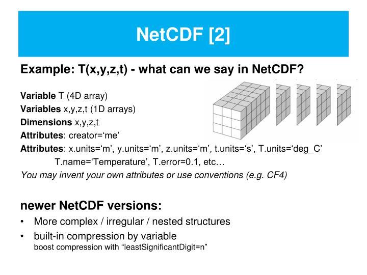 NetCDF [2]