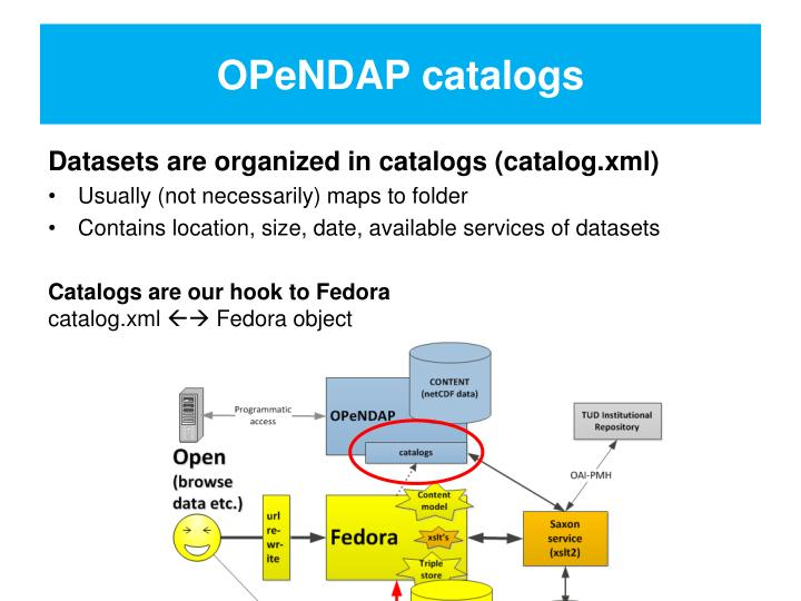 OPeNDAP catalogs