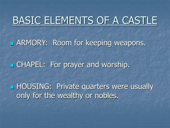 BASIC ELEMENTS OF A CASTLE