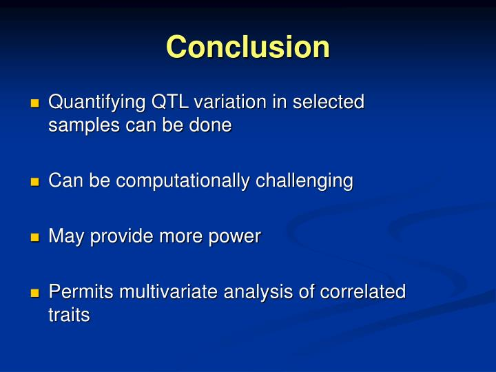 Quantifying QTL variation in selected samples can be done