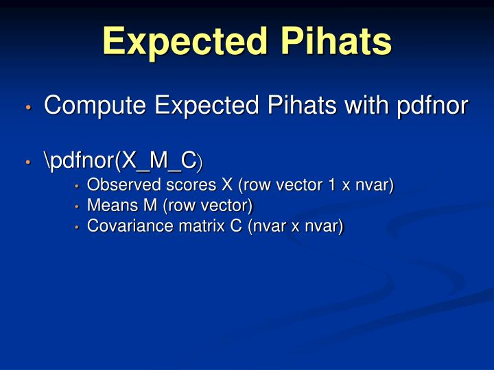 Expected Pihats