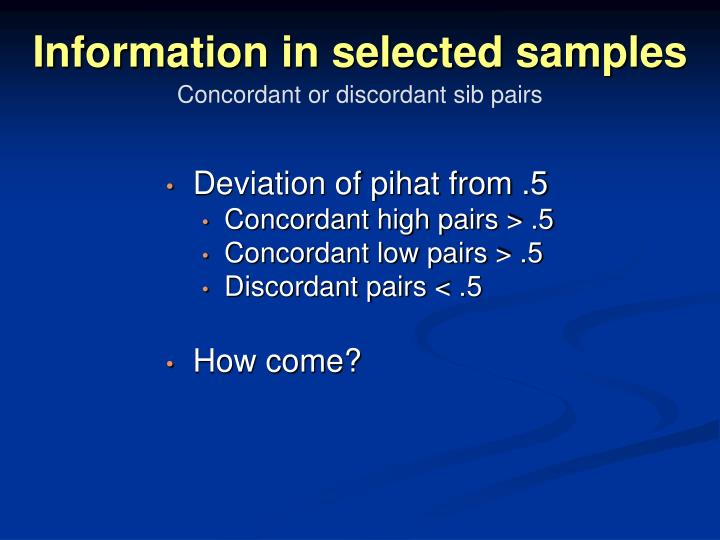 Information in selected samples