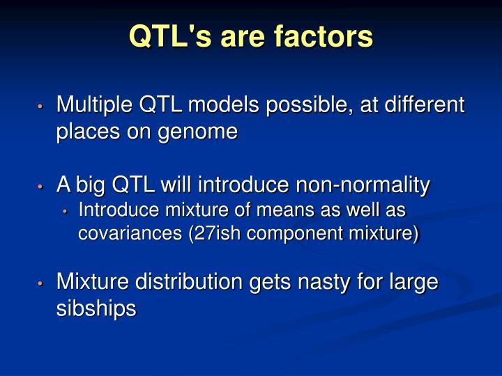 QTL's are factors