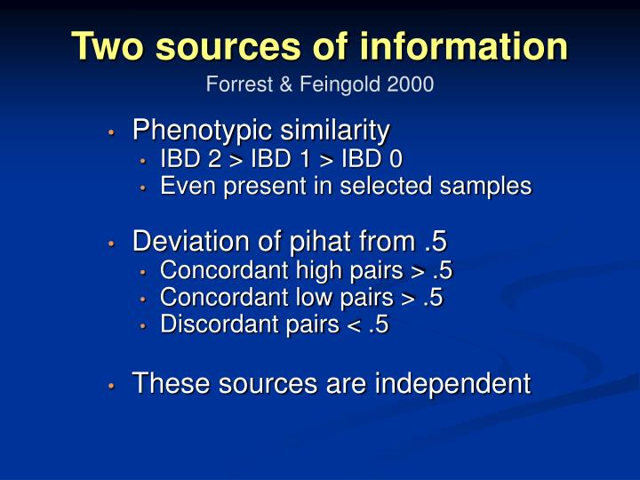 Two sources of information