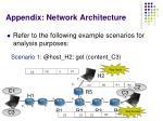 appendix network architecture