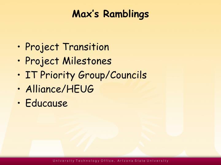 Max's Ramblings
