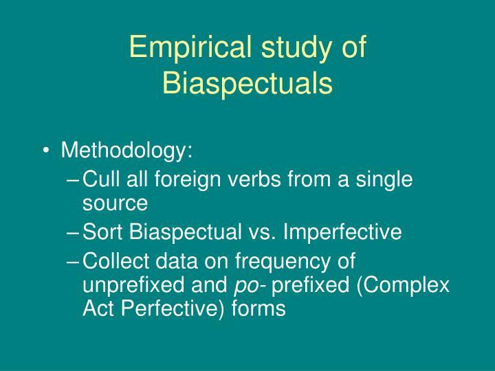 Empirical study of Biaspectuals