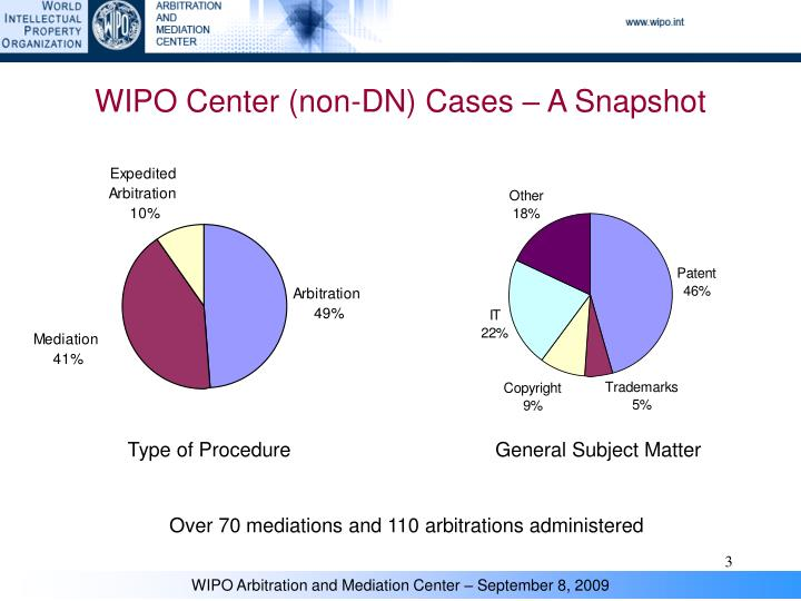 WIPO Center (non-DN) Cases – A Snapshot
