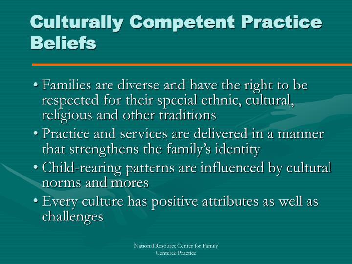 Culturally Competent Practice Beliefs