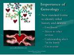 importance of geneology