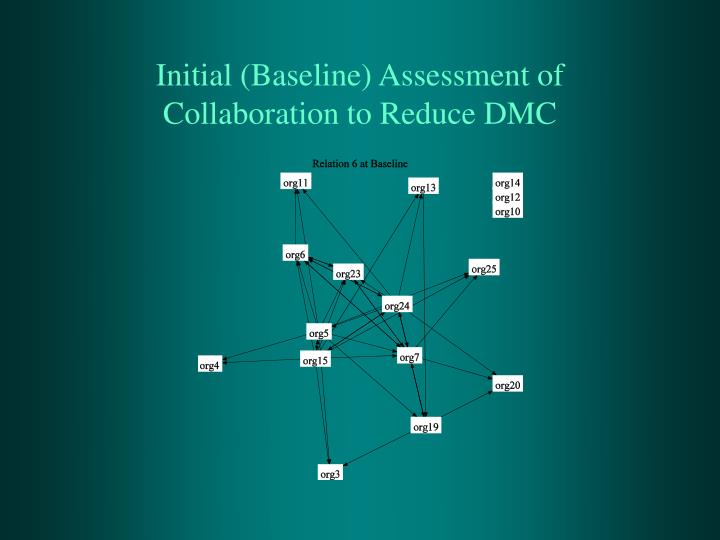 Initial (Baseline) Assessment of