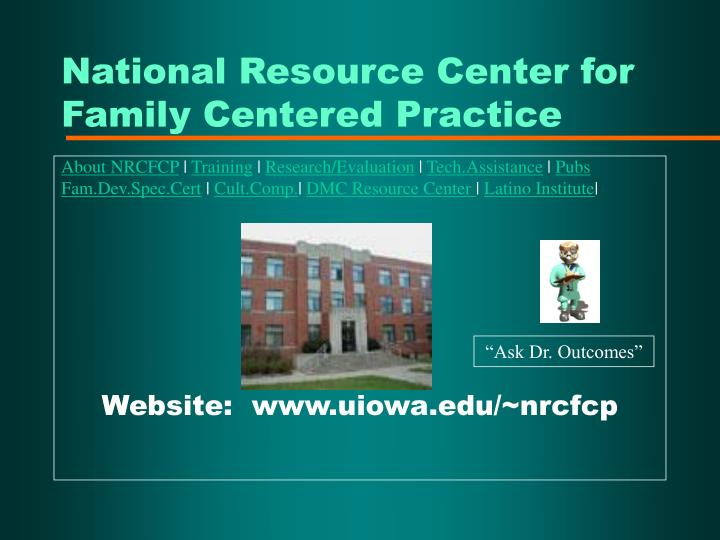 National Resource Center for Family Centered Practice