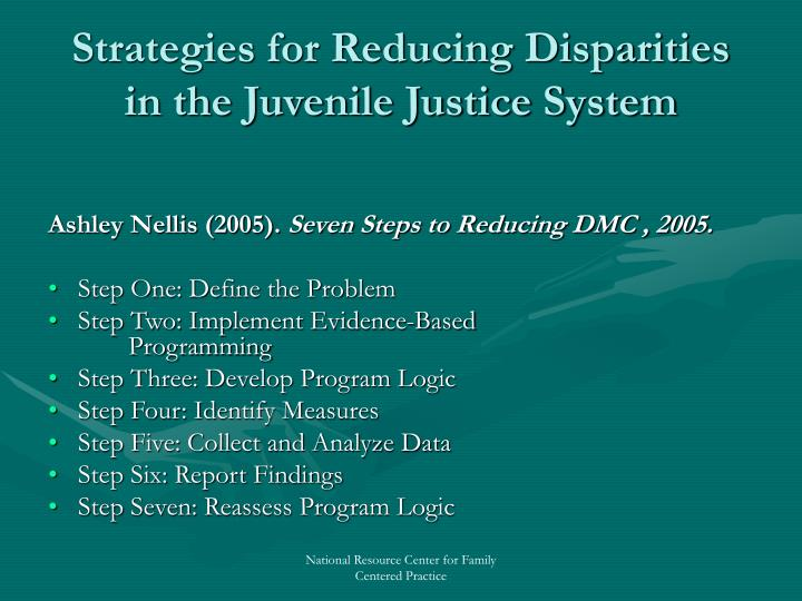 Strategies for Reducing Disparities in the Juvenile Justice System