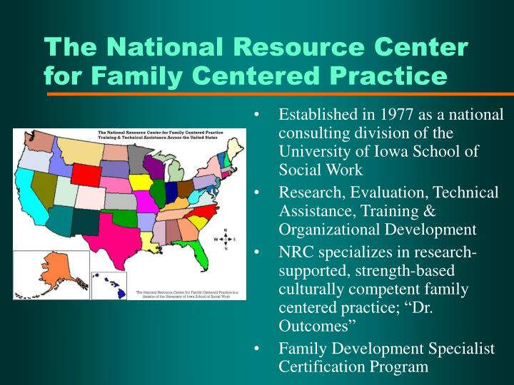 The National Resource Center for Family Centered Practice
