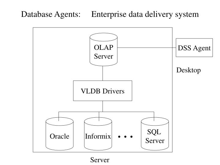 Database Agents:     Enterprise data delivery system