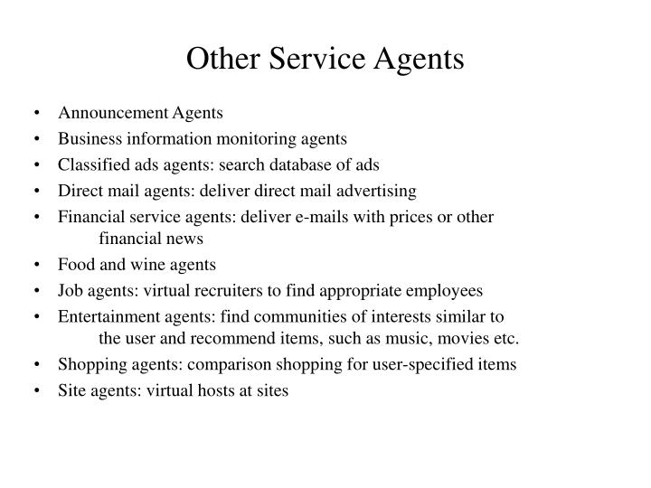 Other Service Agents