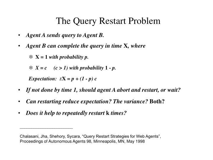 The Query Restart Problem