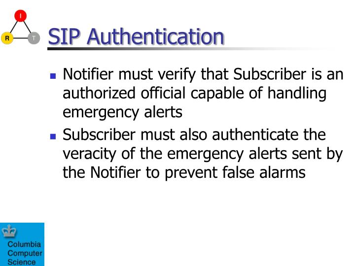 SIP Authentication