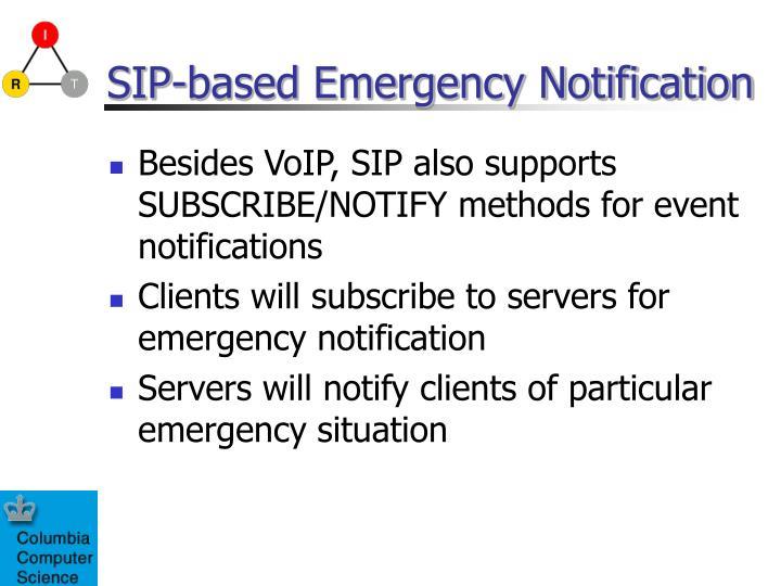 SIP-based Emergency Notification