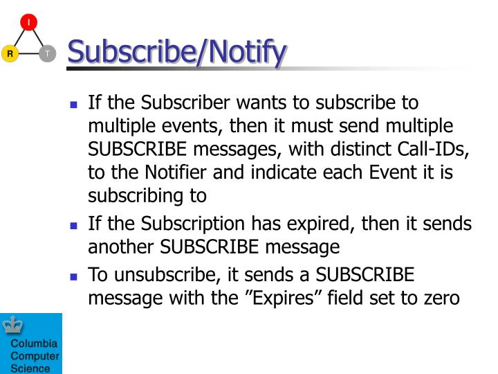 Subscribe/Notify