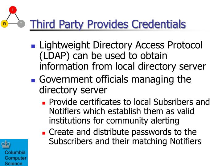 Third Party Provides Credentials