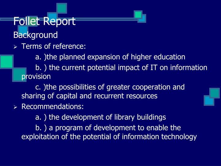 Follet Report