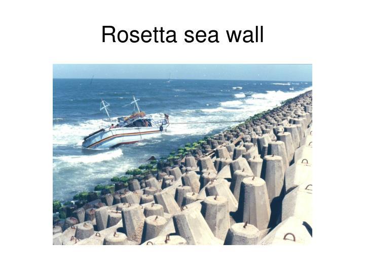 Rosetta sea wall