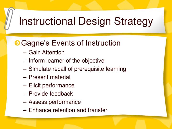 Instructional Design Strategy