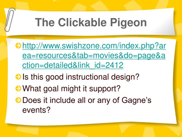 The Clickable Pigeon