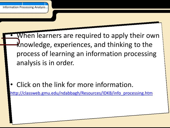 Information Processing Analysis