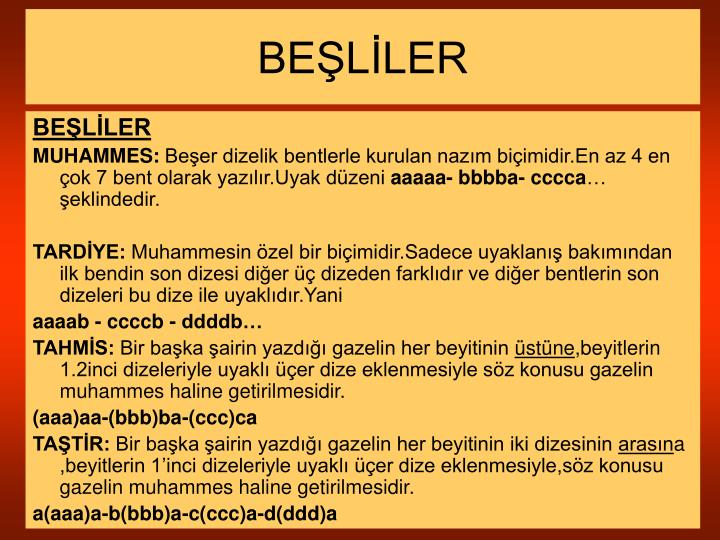 BEŞLİLER