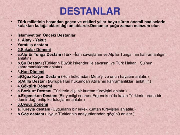 DESTANLAR