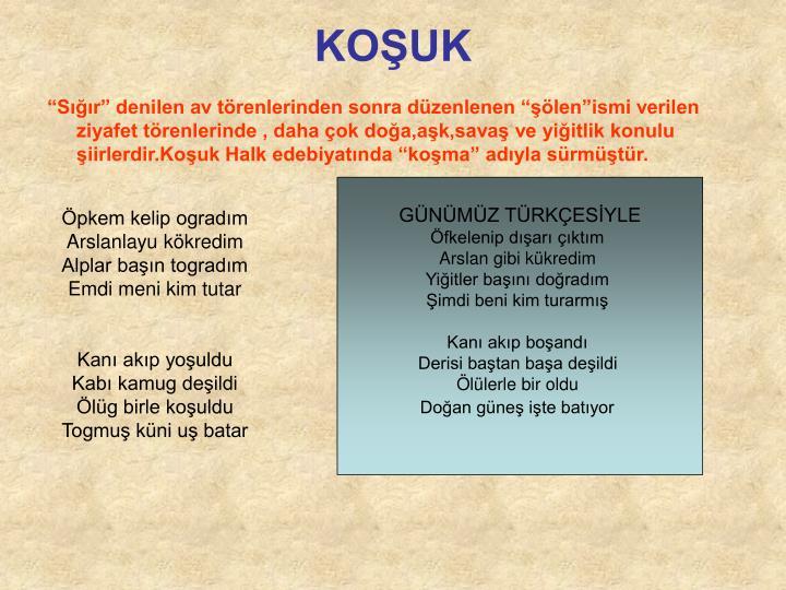 KOŞUK