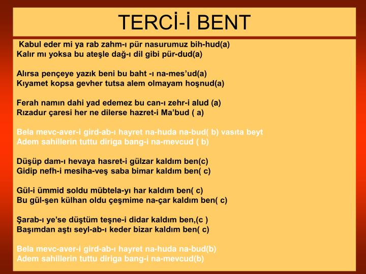 TERCİ-İ BENT