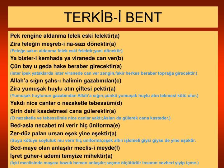 TERKİB-İ BENT