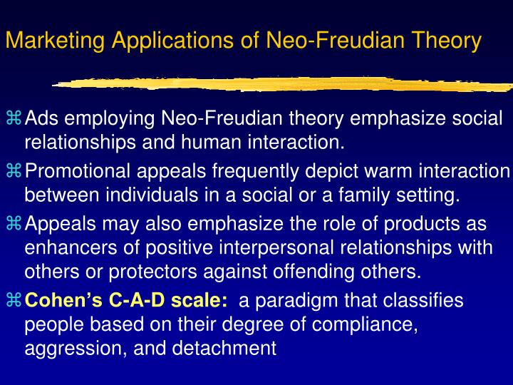 Marketing Applications of Neo-Freudian Theory