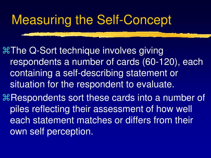 Measuring the Self-Concept