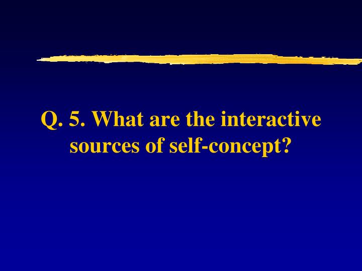 Q. 5. What are the interactive sources of self-concept?