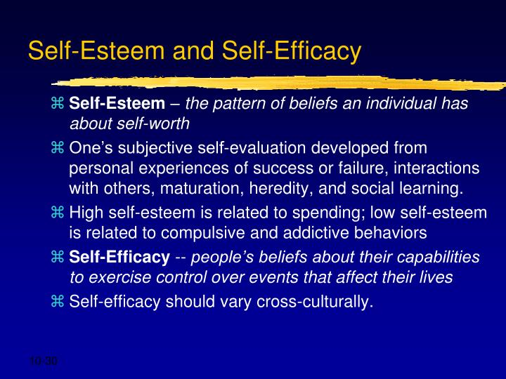 Self-Esteem and Self-Efficacy