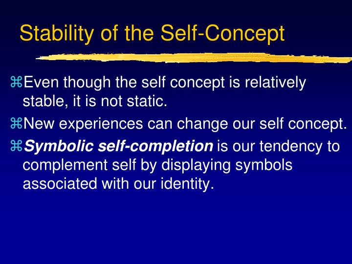Stability of the Self-Concept