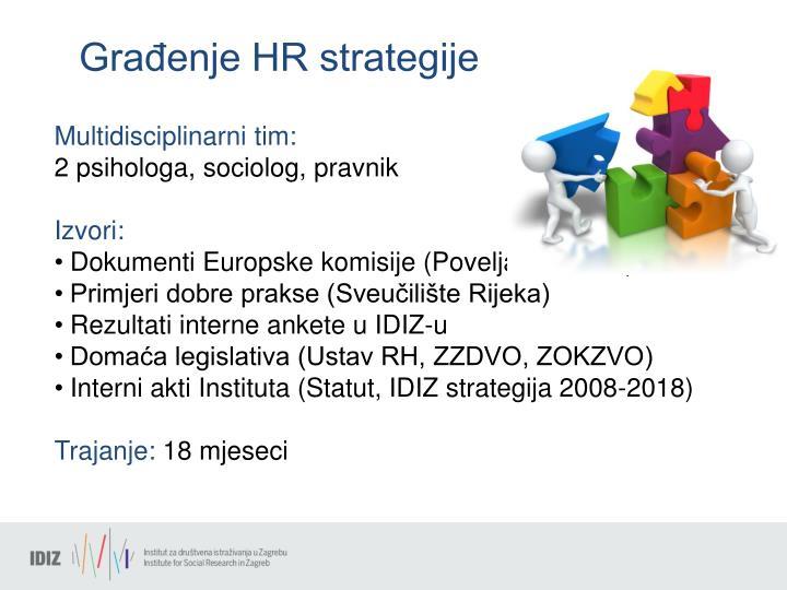 Građenje HR strategije