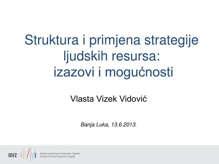 Struktura i primjena strategije
