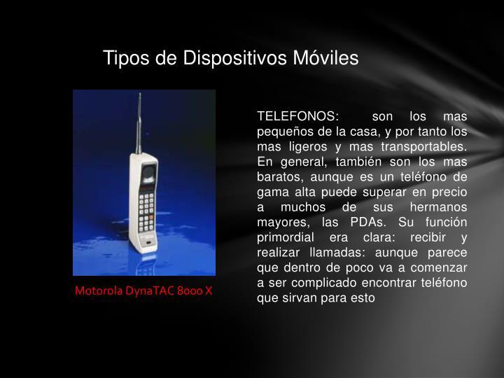 Tipos de Dispositivos Móviles