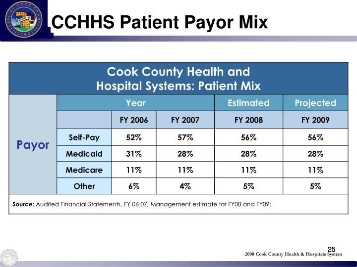 CCHHS Patient Payor Mix
