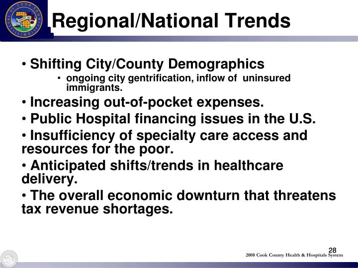 Regional/National Trends