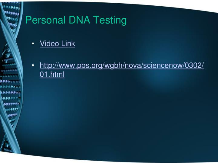 Personal DNA Testing