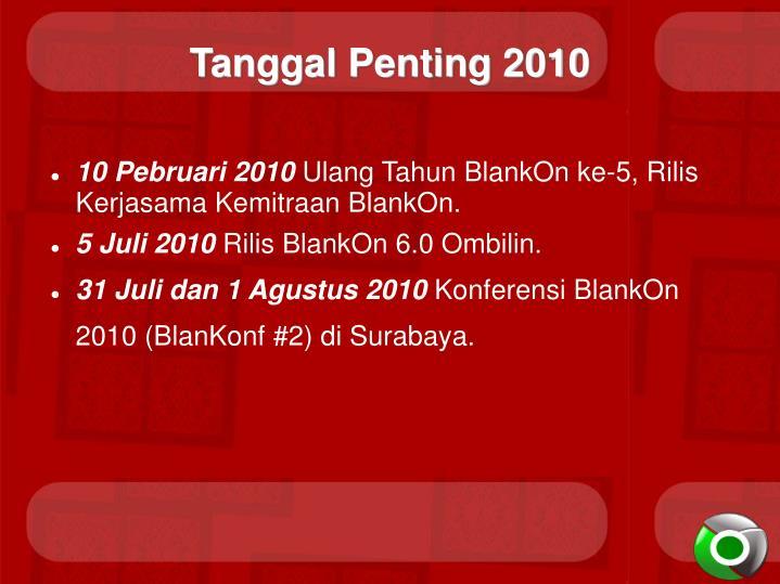 Tanggal Penting 2010